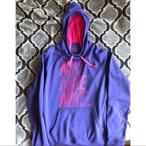 NIKE Therma-Fit Purple Pullover Hoodie